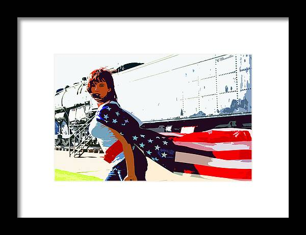 Beauty Framed Print featuring the photograph American Girl by Charles Benavidez