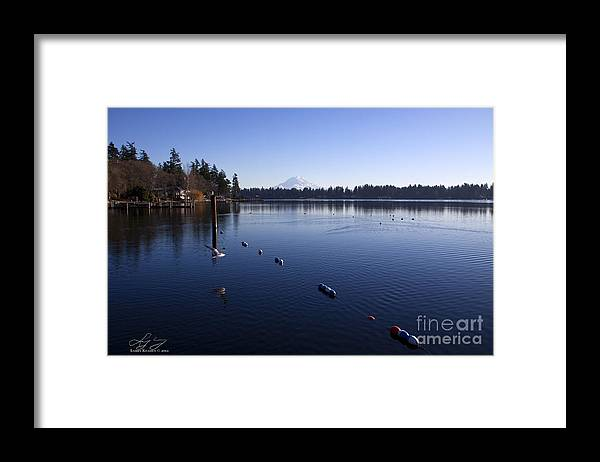 Washington Framed Print featuring the photograph American Lake by Larry Keahey