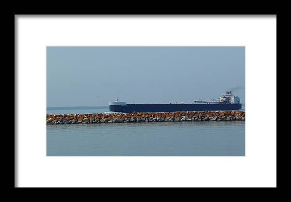 Ship Framed Print featuring the photograph American Spirit by Michael Carrothers