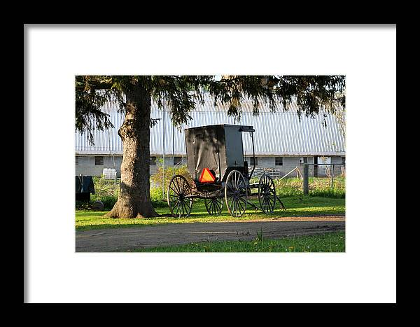 Amish Framed Print featuring the photograph Amish Buggy by Beverly Kobee