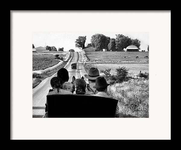 Amish Framed Print featuring the photograph Amish Family Outing by Julie Dant