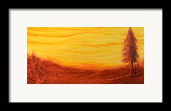Tree Framed Print featuring the painting Amoreena's Tree by Mark Minier