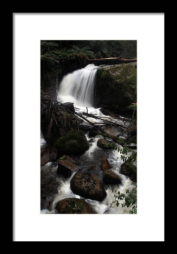 Waterfall Framed Print featuring the photograph Ampitheatre Falls by Lois Romer
