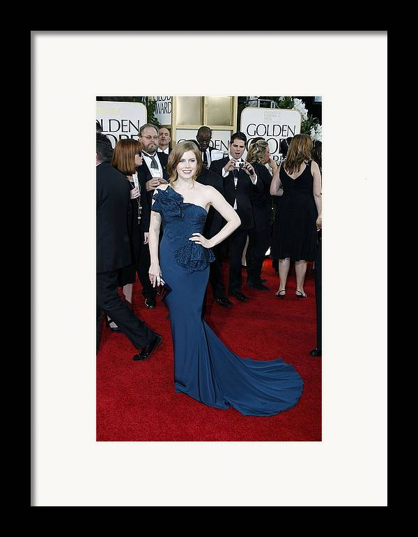 Amy Adams Framed Print featuring the photograph Amy Adams Wearing A Marchesa Gown by Everett