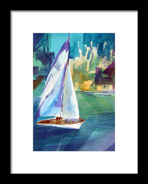 Sailboat Framed Print featuring the painting Amy's Boat. by Josh Chilton