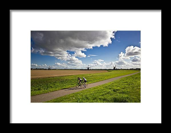 Cycling Framed Print featuring the photograph An Afternoon Ride by Richard Theemling