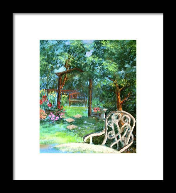 Garden Framed Print featuring the painting An English Garden by Angelina Whittaker Cook