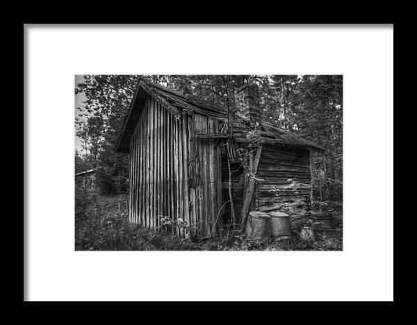 Sauna Framed Print featuring the photograph An Old Sauna by Tommi Saarela