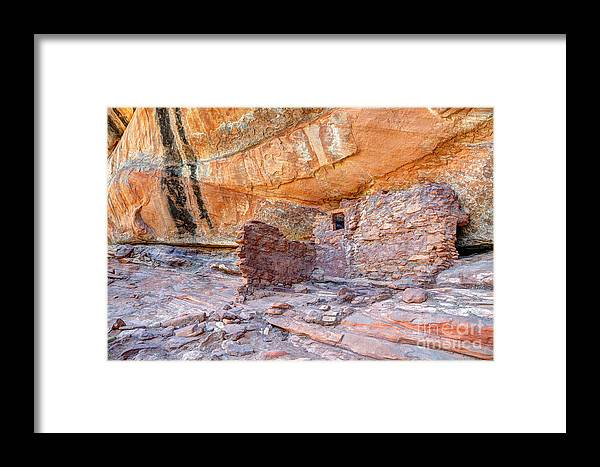 Anasazi Framed Print featuring the photograph Anasazi Indian Ruin - Cedar Mesa by Gary Whitton