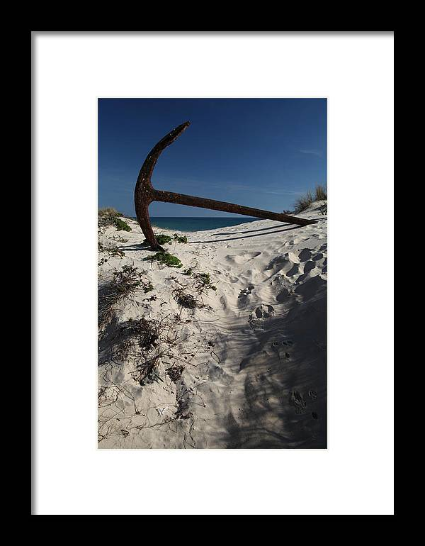 Jezcself Framed Print featuring the photograph Anchor Beach 10 by Jez C Self