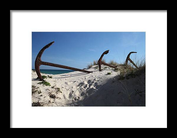 Jezcself Framed Print featuring the photograph Anchor Beach 13 by Jez C Self