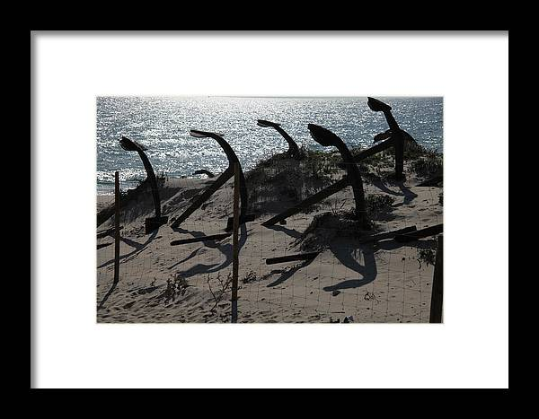 Jezcself Framed Print featuring the photograph Anchor Beach 15 by Jez C Self