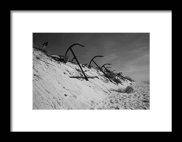 Jezcself Framed Print featuring the photograph Anchor Beach 2 by Jez C Self