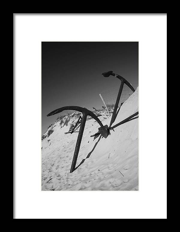 Jezcself Framed Print featuring the photograph Anchor Beach 4 by Jez C Self