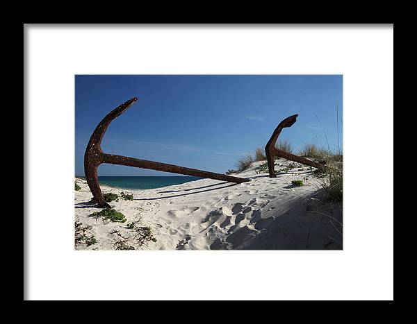 Jezcself Framed Print featuring the photograph Anchor Beach 8 by Jez C Self