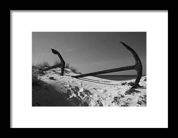 Jezcself Framed Print featuring the photograph Anchor Beach 9 by Jez C Self