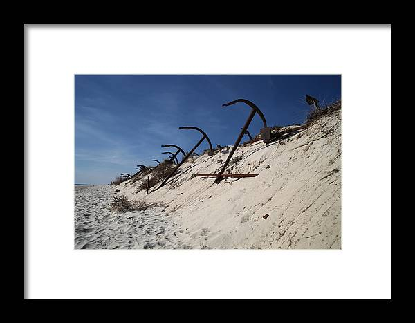 Jezcself Framed Print featuring the photograph Anchor Beach by Jez C Self