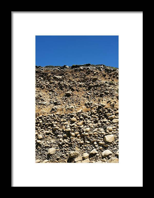Geography Framed Print featuring the photograph Ancient Sea Bed In A Cliff by Jeremy Walker
