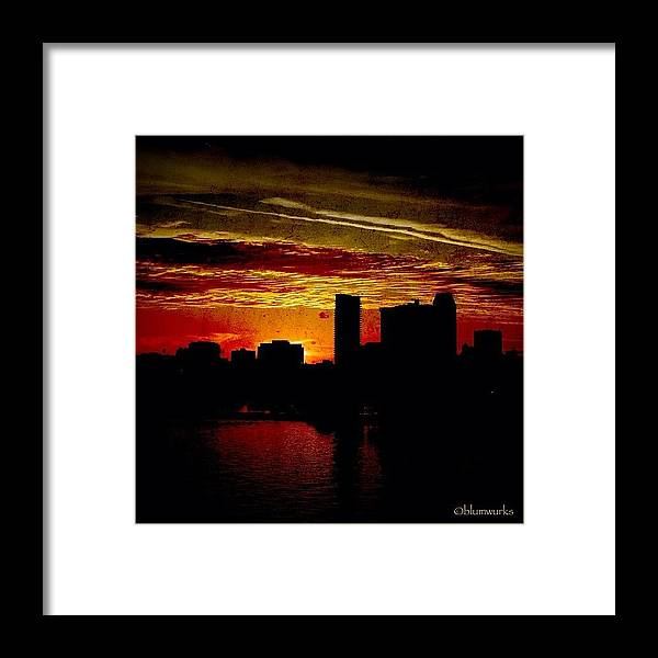 Building Framed Print featuring the photograph And Yet Another Day Closes by Matthew Blum