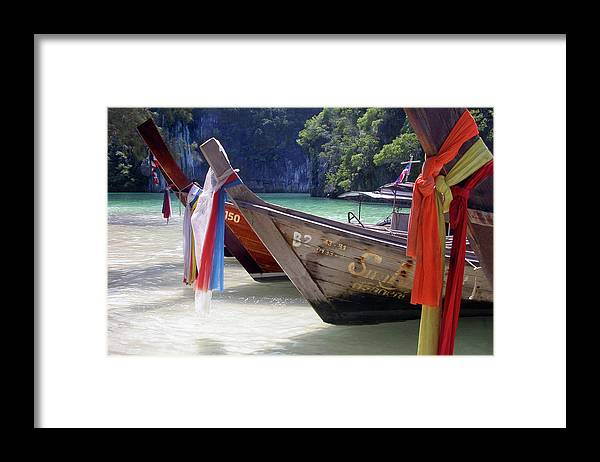 Thailand Framed Print featuring the photograph Andaman Sea Water Taxi by John Banegas