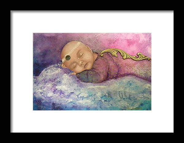 Terry Honstead Framed Print featuring the painting Angel by Terry Honstead