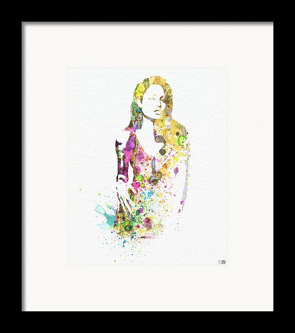 Angelina Jolie Poster Framed Print featuring the digital art Angelina Jolie 2 by Naxart Studio