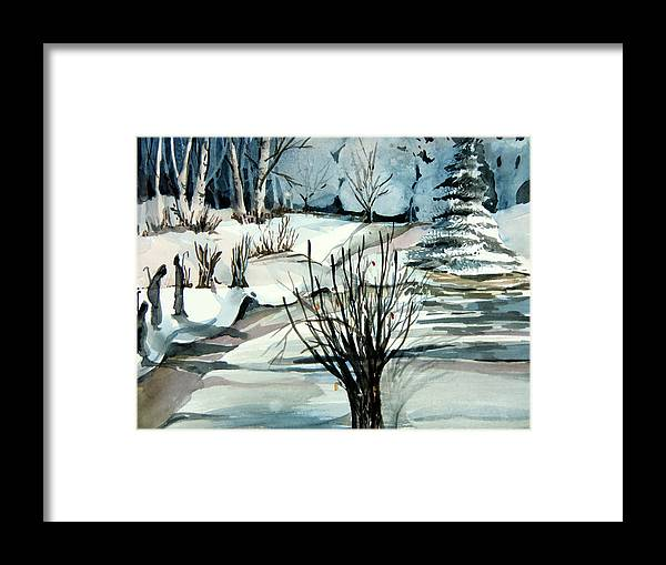 Christmas Framed Print featuring the painting Angels And Shepherds by Mindy Newman