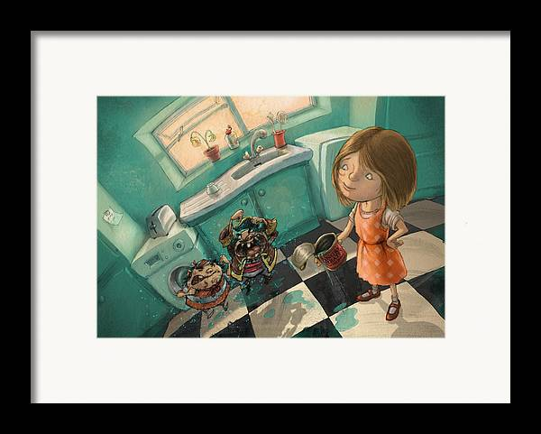 Pirates Framed Print featuring the digital art Angry Pirates by Andy Catling