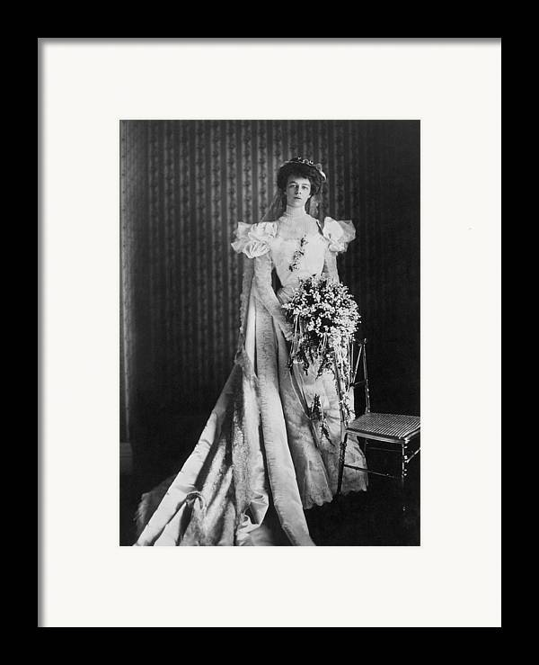 1905 Framed Print featuring the photograph Anna Eleanor Roosevelt by Granger