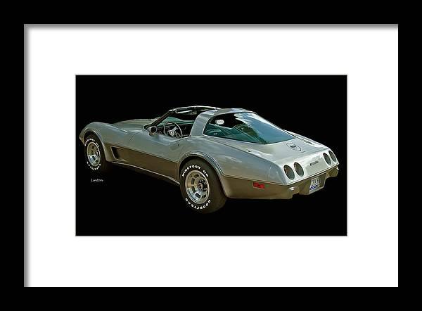 Chevrolet Corvette Framed Print featuring the photograph Anniversary Corvette 2 by Larry Linton