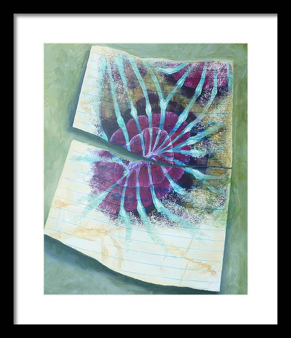 Page Framed Print featuring the mixed media Another Page by Diane Nelson