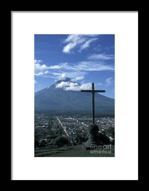 Guatemala Framed Print featuring the photograph Antigua Guatemala by John Mitchell