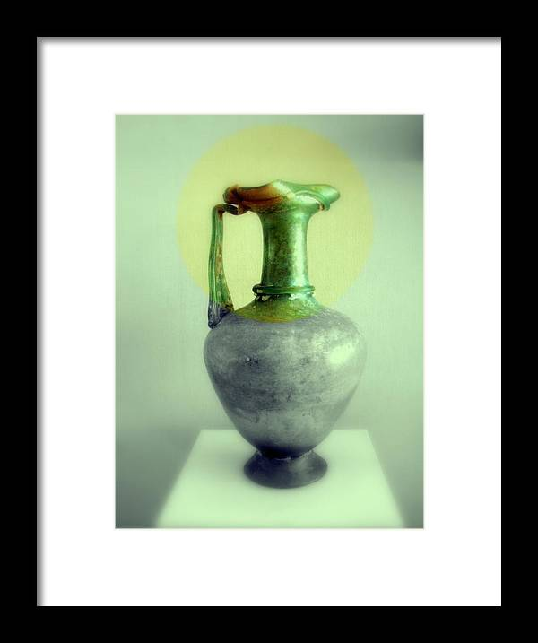Still Life Framed Print featuring the photograph Antique Vases Still Life Altered III by Grace Art Photography