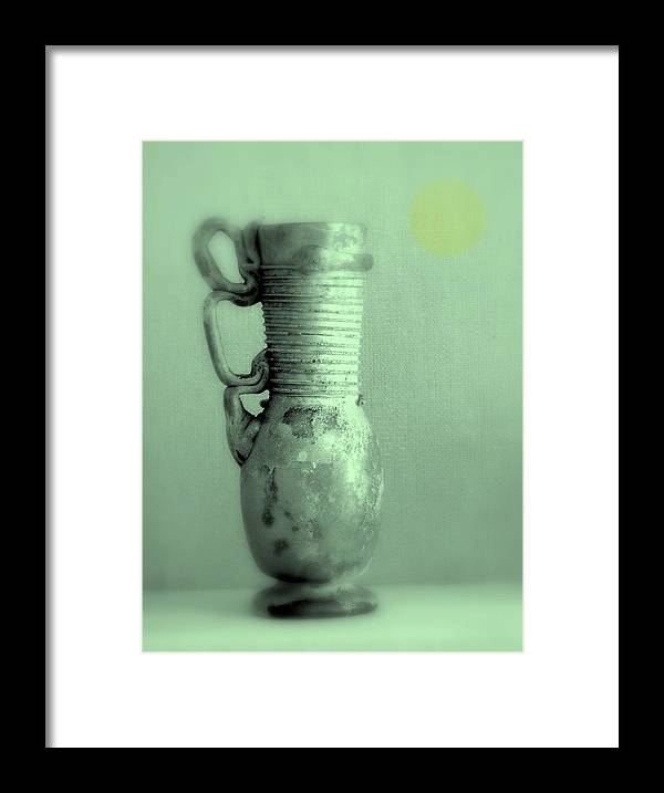 Still Life Framed Print featuring the photograph Antique Vases Still Life Altered IV by Grace Art Photography