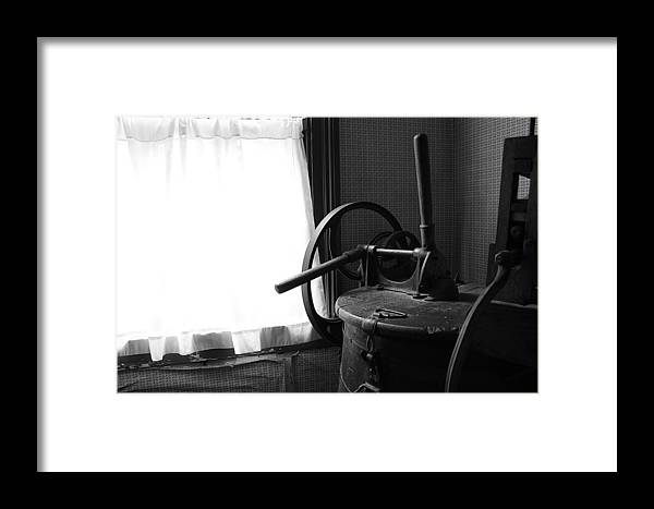 Hovind Framed Print featuring the photograph Antique Washing Machine by Scott Hovind