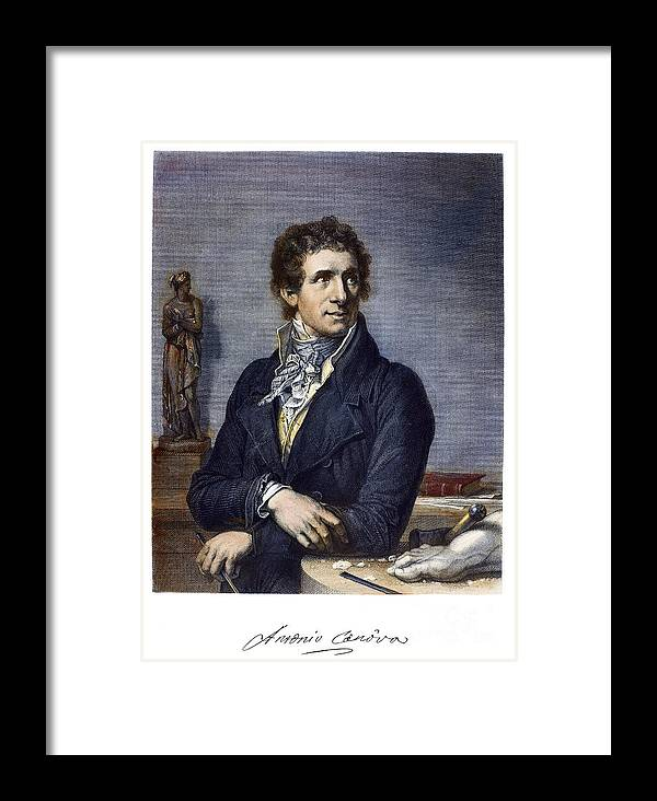 18th Century Framed Print featuring the photograph Antonio Canova (1757-1822) by Granger