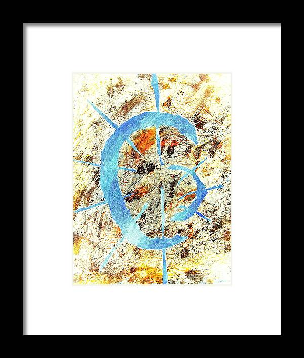 Abstract Framed Print featuring the painting Anuaat by Alex Blaha