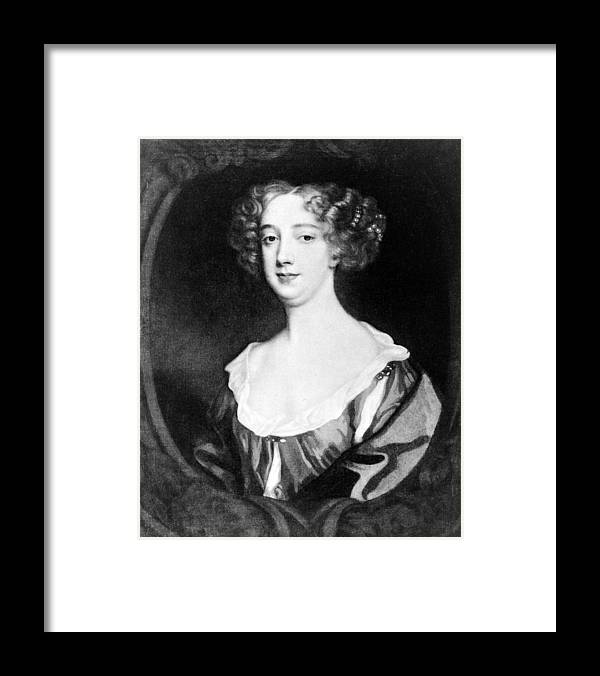 2008-2 Framed Print featuring the photograph Aphra Behn 1640-1689, English Novelist by Everett