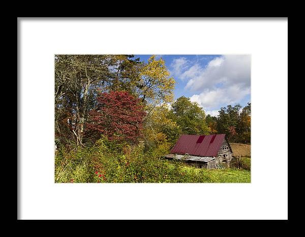 American Framed Print featuring the photograph Appalachian Autumn by Debra and Dave Vanderlaan