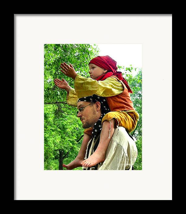 Historical Re-enactments Framed Print featuring the photograph Applauding The Juggling Act by Julie Dant