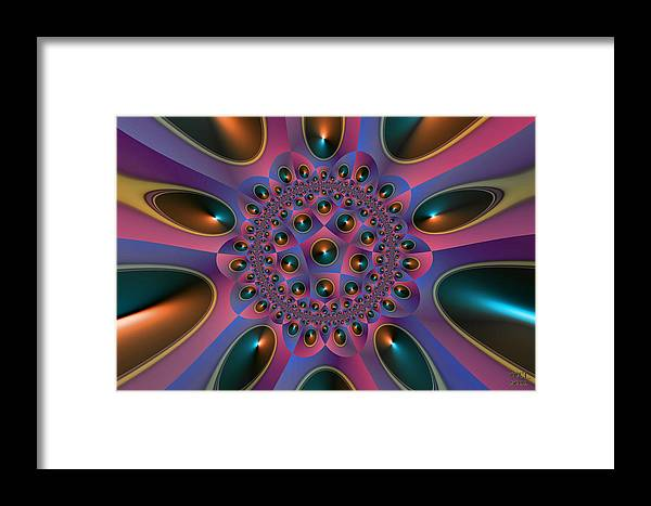 Abstract Framed Print featuring the digital art Approaching Apotheosis by Manny Lorenzo