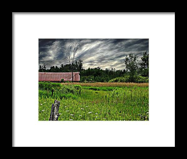Barn Framed Print featuring the photograph Approaching Storm by Ms Judi