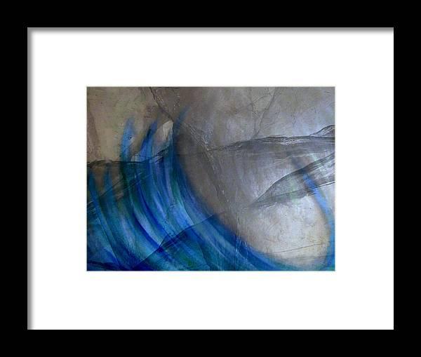 Abstract Framed Print featuring the digital art Aqua by Joseph Ferguson