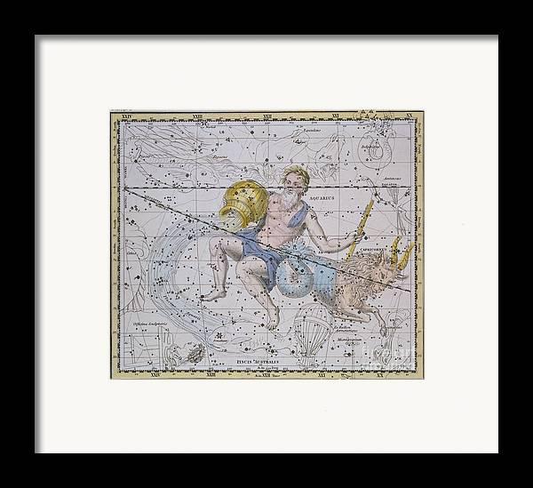 Aquarius And Capricorn Framed Print featuring the painting Aquarius And Capricorn by A Jamieson