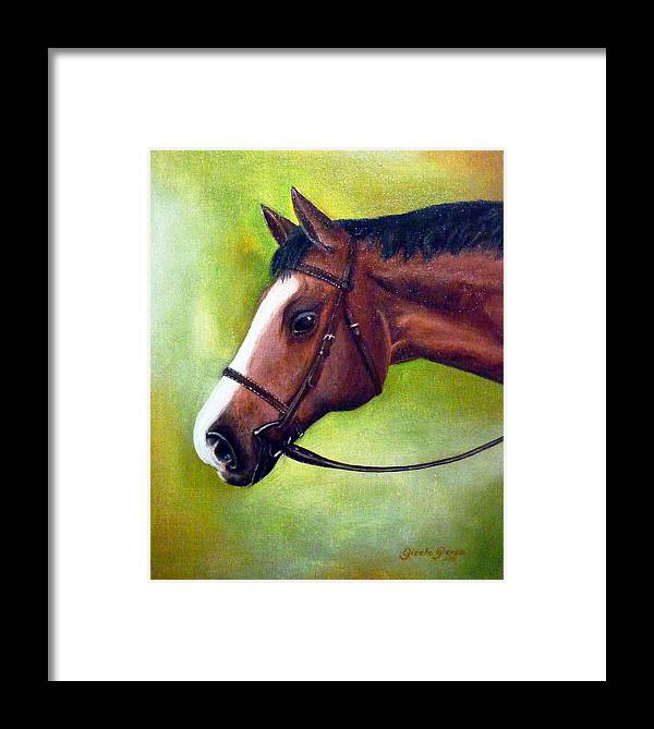 Horse Framed Print featuring the painting Arabian Horse by Gizelle Perez