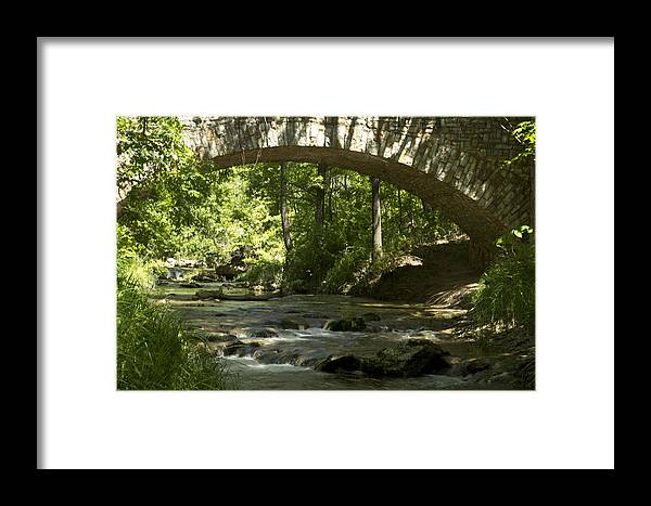Bridge Framed Print featuring the digital art Arched Bridge by Terry Hollensworth-Rutledge