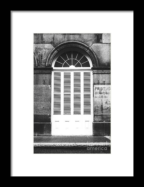 Arched White Shuttered Window French Quarter New Orleans Black And ...