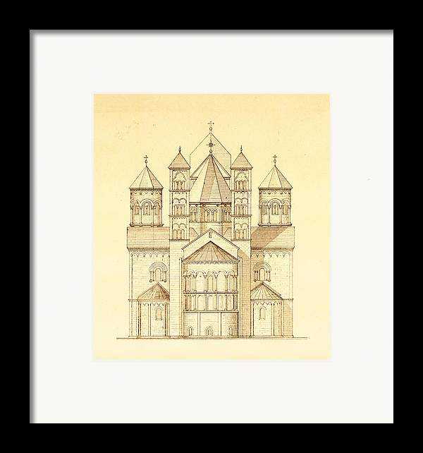 Architectural drawing of maria laach abbey in germany for Print architectural drawings