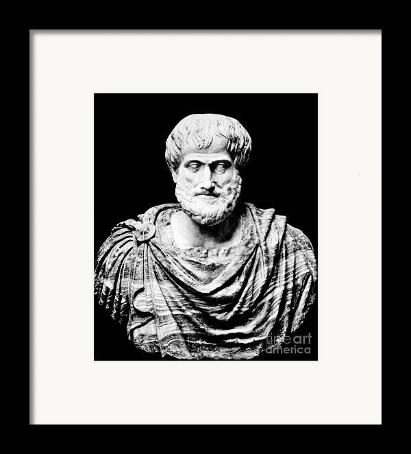 History Framed Print featuring the photograph Aristotle, Ancient Greek Philosopher by Omikron