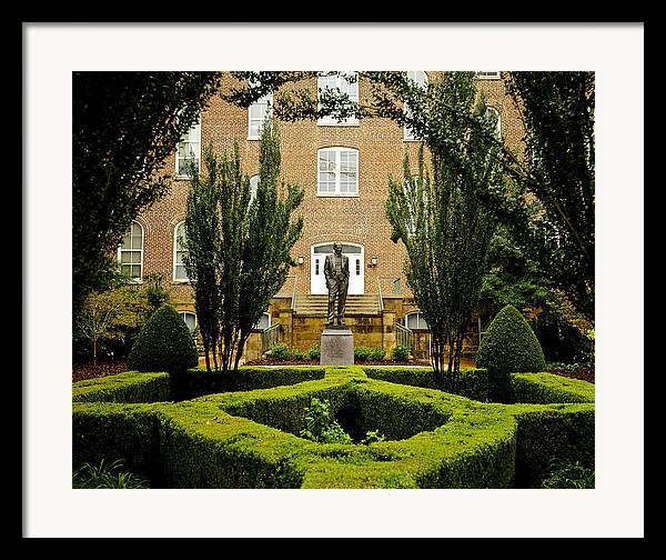 Fayetteville Framed Print featuring the photograph Arkansas Greenery Surrounds The Arkansas Campus by Replay Photos